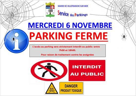 Fermeture exceptionnelle du parking de la BARMASSA @ Parking de la Barmassa