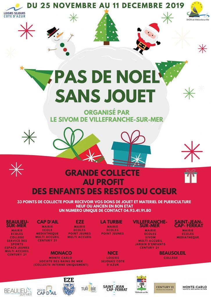 Pas de Noël sans jouet - Organisé par le SIVOM de Villefranche-sur-Mer