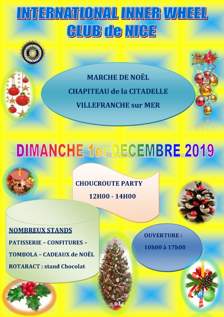 Marché de Noël - International INNER WHEEL Club de Nice @ Chapiteau de la Citadelle