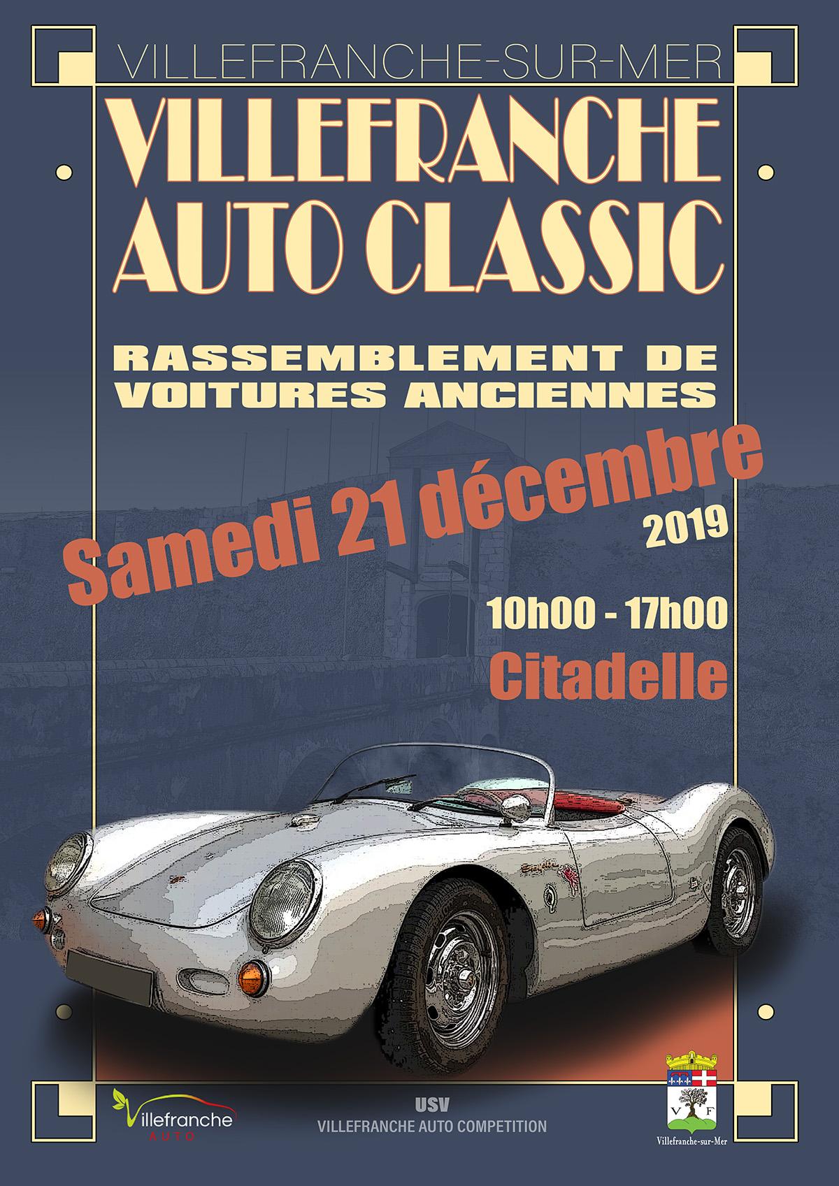 VILLEFRANCHE AUTO CLASSIC - Rassemblement de voitures anciennes @ Citadelle Saint-Elme