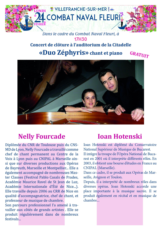 """Concert de clôture dans le cadre du combat naval Fleuri 2020 - """"DUO ZEPHYRIS"""" Chant & Piano"""