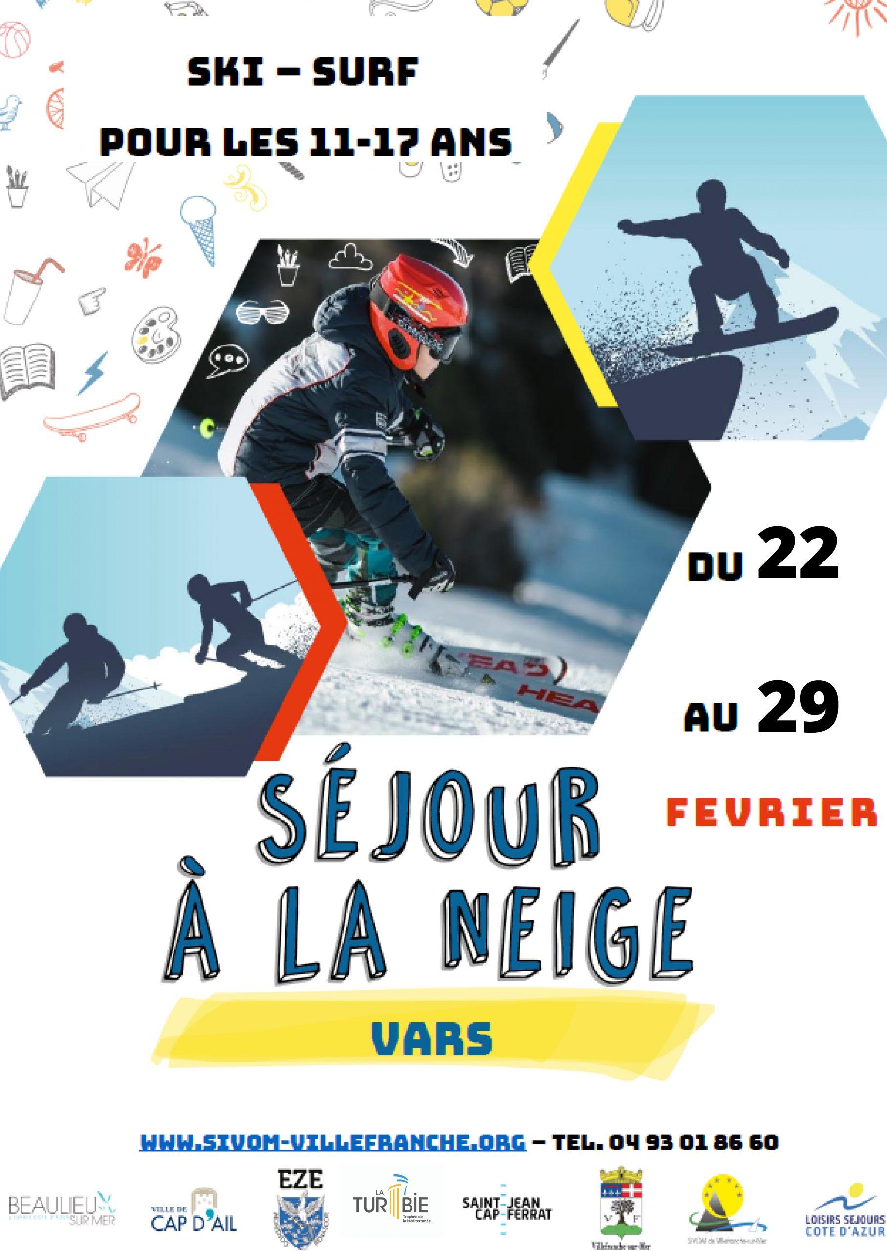 Séjour au ski avec le SIVOM - Du 22 au 29 Février 2020