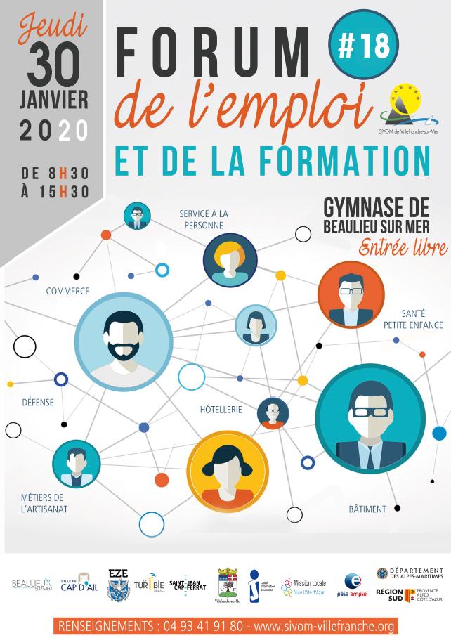 Forum de l'Emploi et de la Formation @ Gymnase de Beaulieu-sur-Mer