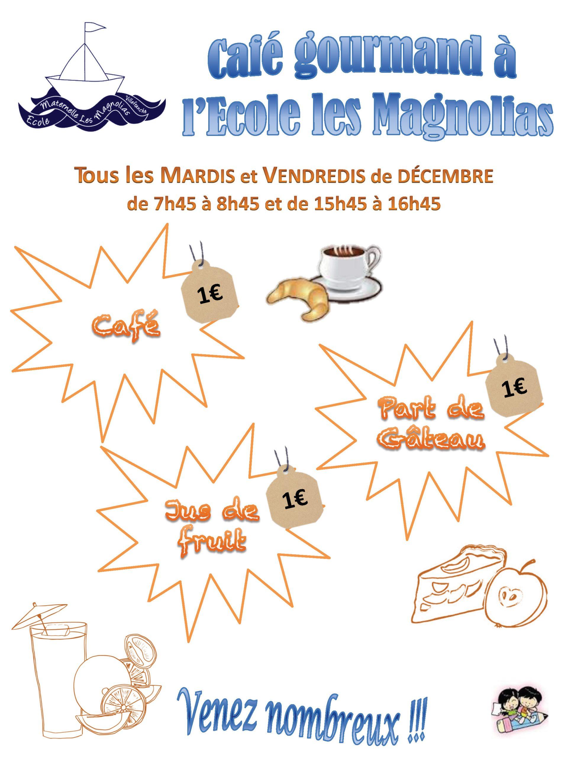 """Café Gourmand à l'école """"Les Magnolias"""""""