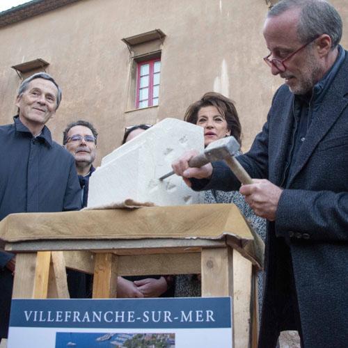 ALBUM - Coup de maillet sur la première pierre dans le cadre des travaux de restauration de la Citadelle