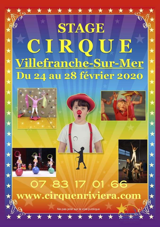Stage de Cirque de l'école de cirque Cirque en Riviera du 24 au 28 février 2020