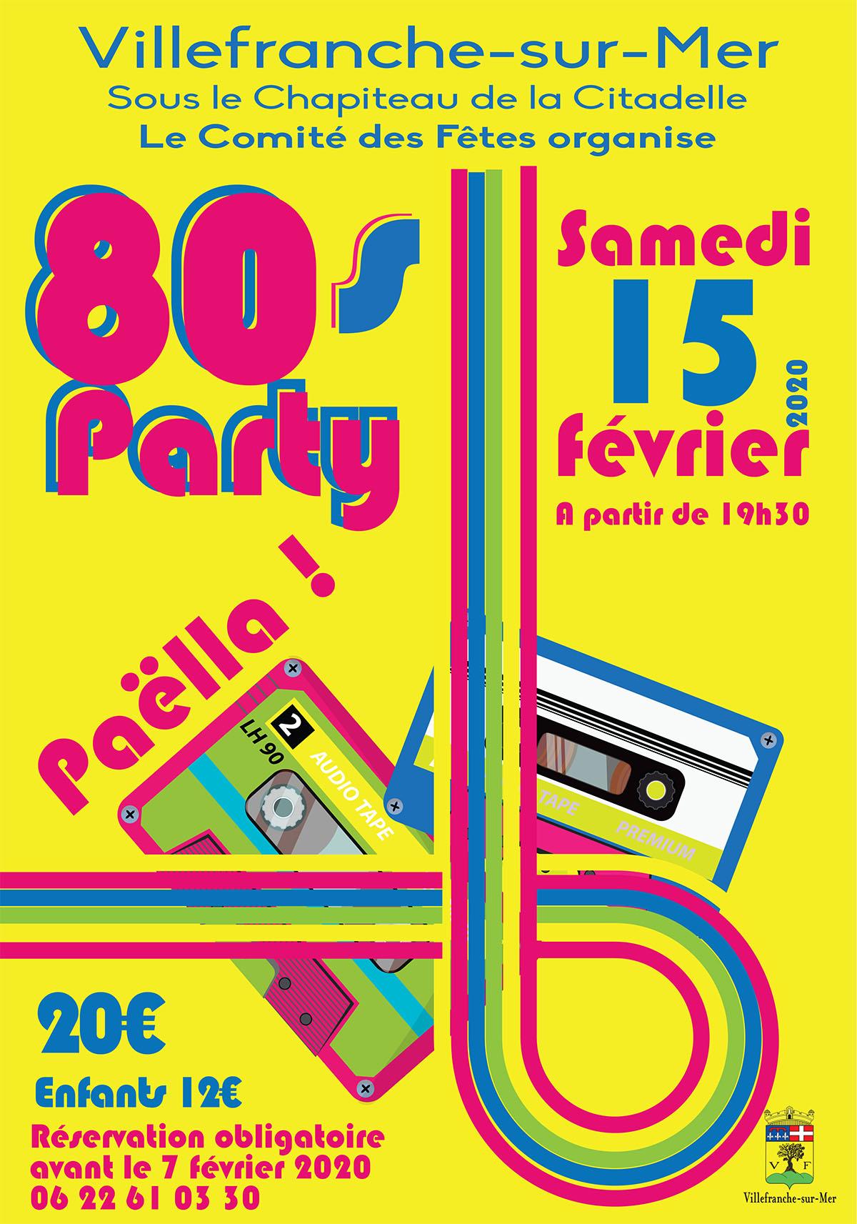 80's Party du Comité des fêtes de Villefranche-sur-Mer