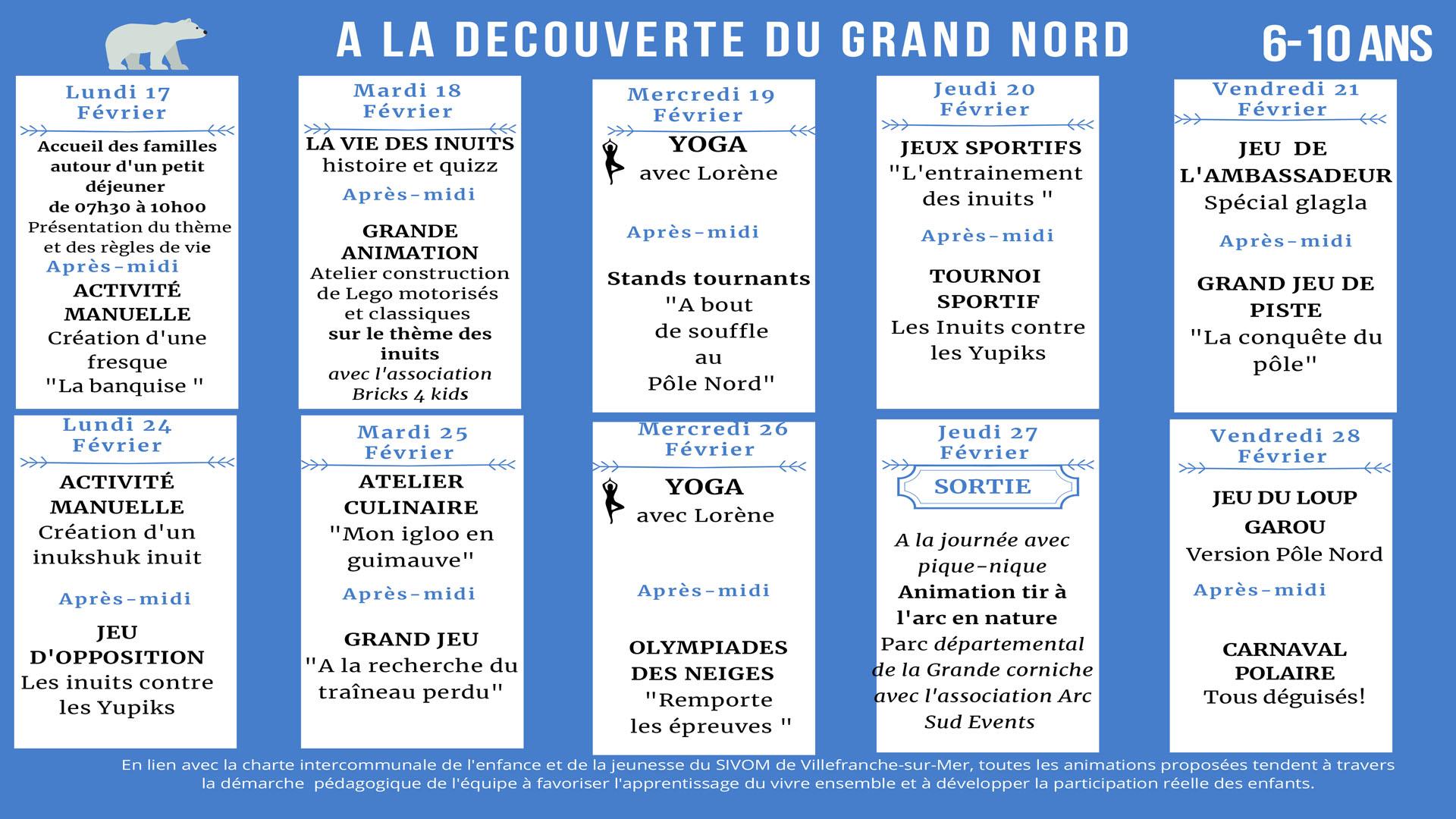 A la découverte du Grand Nord - Ateliers pour les 3/5 ans & les 6/10 ans