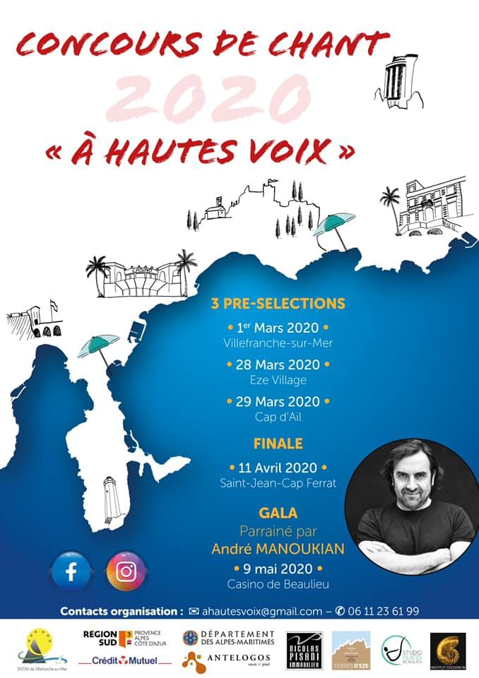 """Concours de chant """"A hautes voix"""" 2020"""