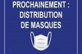 La distribution des masques à Villefranche-sur-Mer