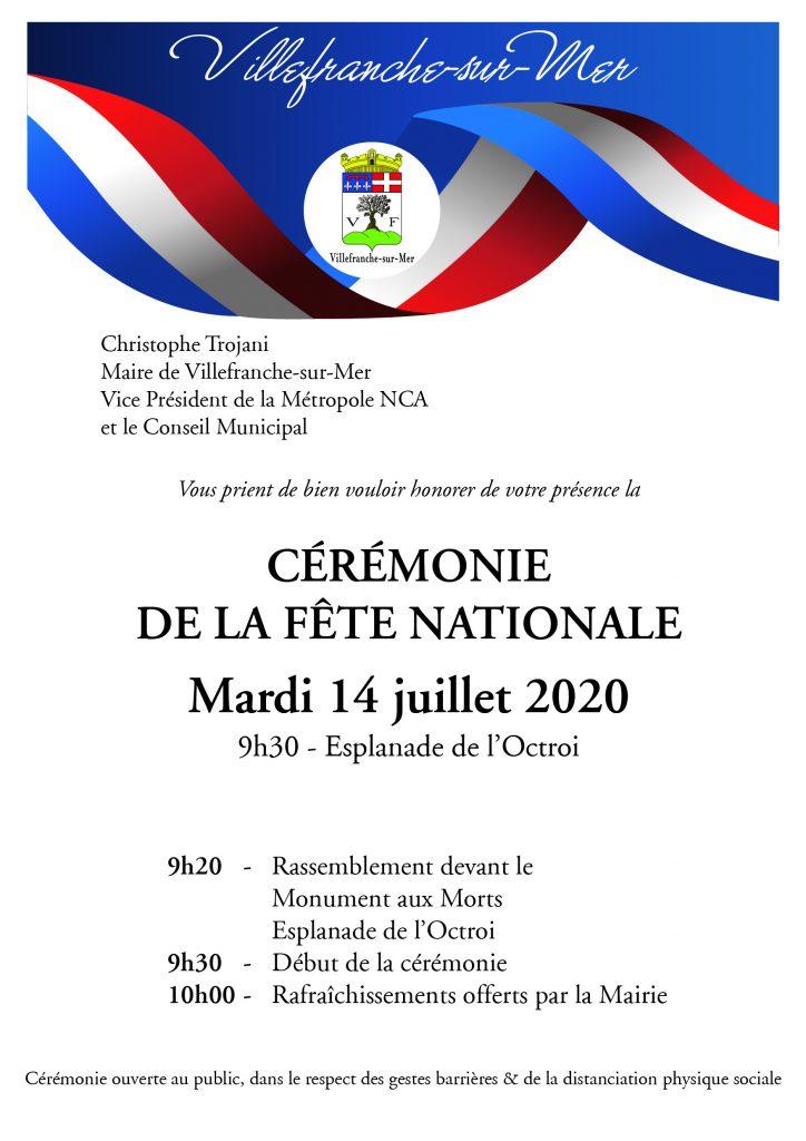 Cérémonie de la Fête Nationale - Mardi 14 Juillet 2020