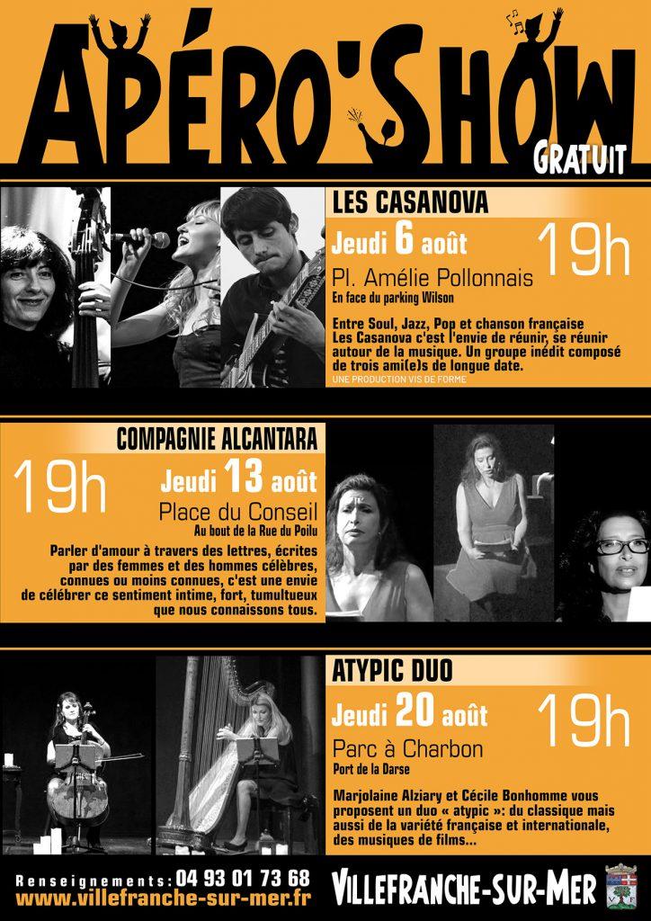 Apéro'Show - Les jeudis 6, 13 et 20 Août 2020 à 19h