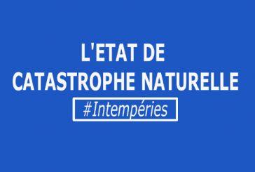 Etat de catastrophe naturelle suite aux intempéries du 2 et 3 octobre dernier.