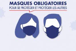 Port du masque obligatoire sur l'ensemble de l'espace public villefranchois à compter de ce jour.